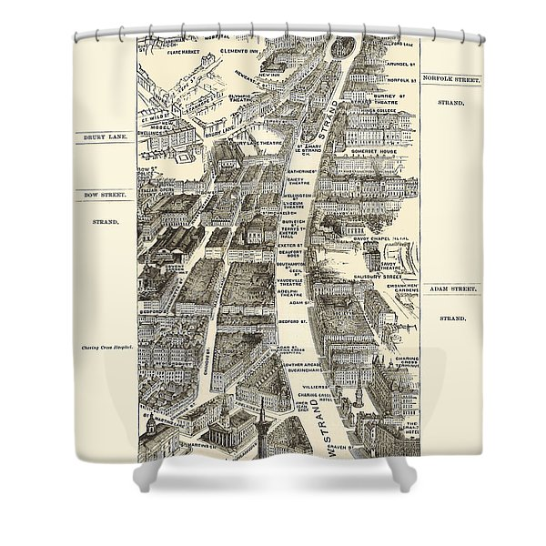 London 1880's - The Strand Shower Curtain