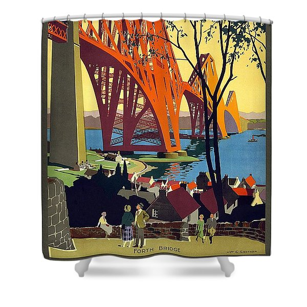 London And North Eastern Railway - Retro Travel Poster - Vintage Poster Shower Curtain