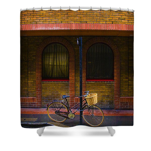 London Bicycle Shower Curtain