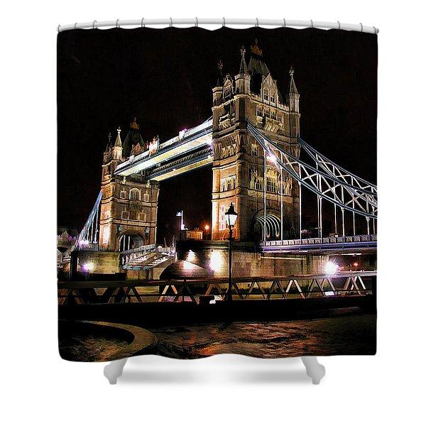 London Bridge At Night Shower Curtain