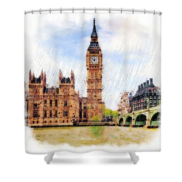 London Calling Shower Curtain