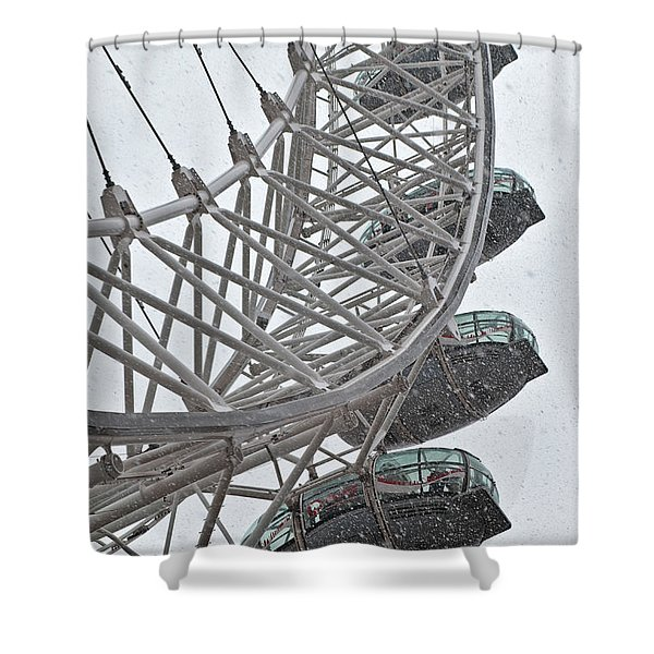 London Eye And Snow Shower Curtain