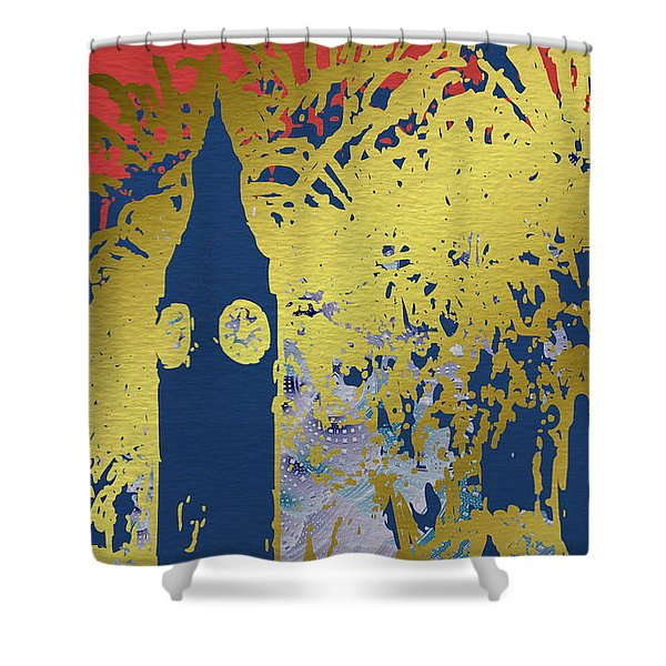 London Fireworks Shower Curtain