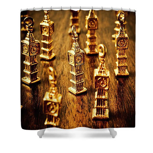 London Gold Shower Curtain