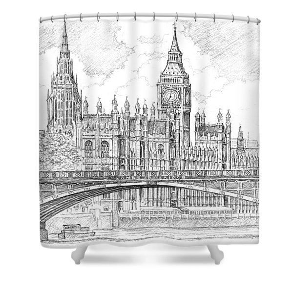 London Houses Of Parliament Shower Curtain
