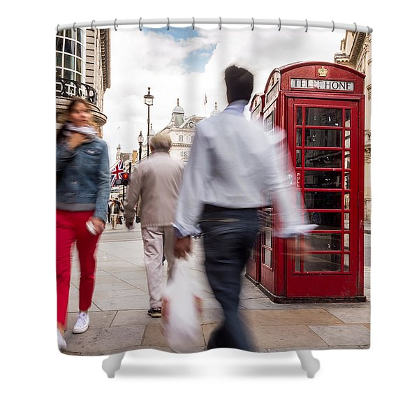 London In Motion Shower Curtain