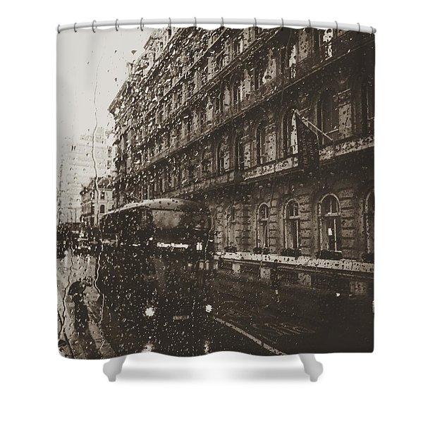 London Rain Shower Curtain