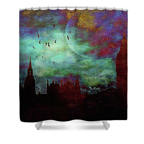 London Skyline II Shower Curtain