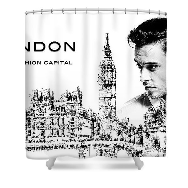 London The Fashion Capital Shower Curtain