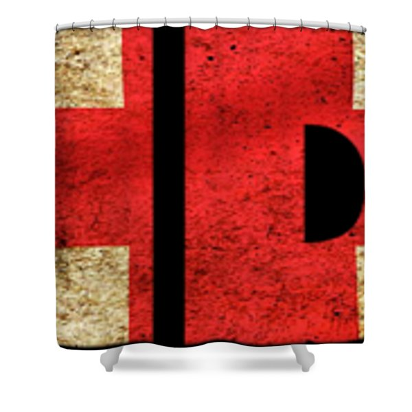 London Vintage British Flag Tee Shower Curtain
