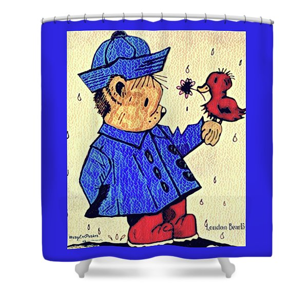 Londonbear And Bensonduck  Shower Curtain