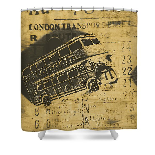 Londoners Run Shower Curtain