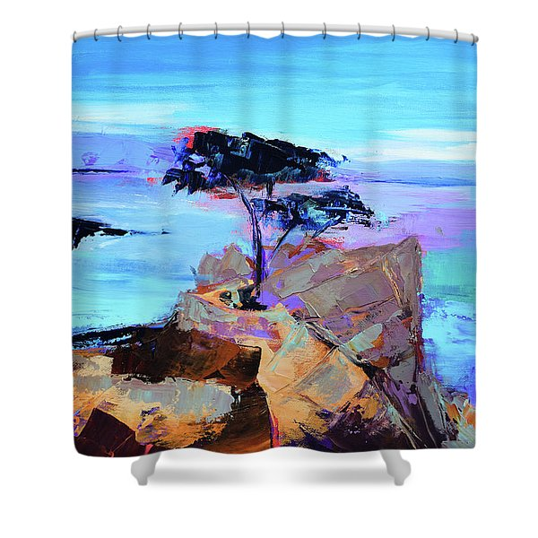 Lone Cypress - California Shower Curtain