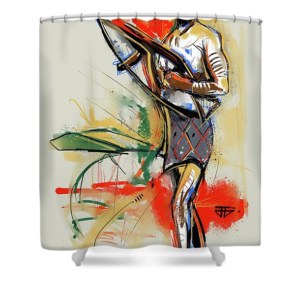 Lone Native Soldier Shower Curtain