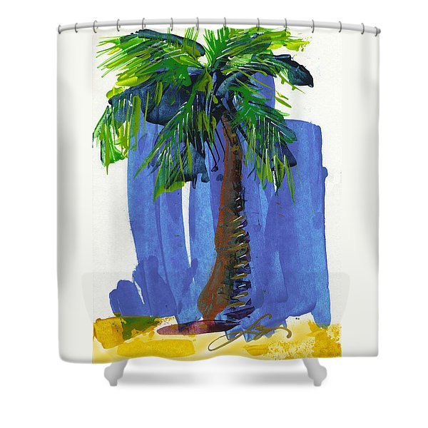 Lone Palm Shower Curtain