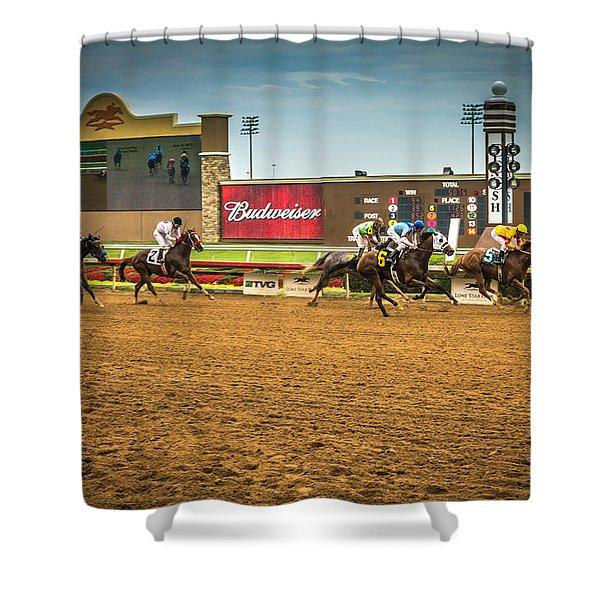 Lone Star Park Grand Prairie Texas Shower Curtain