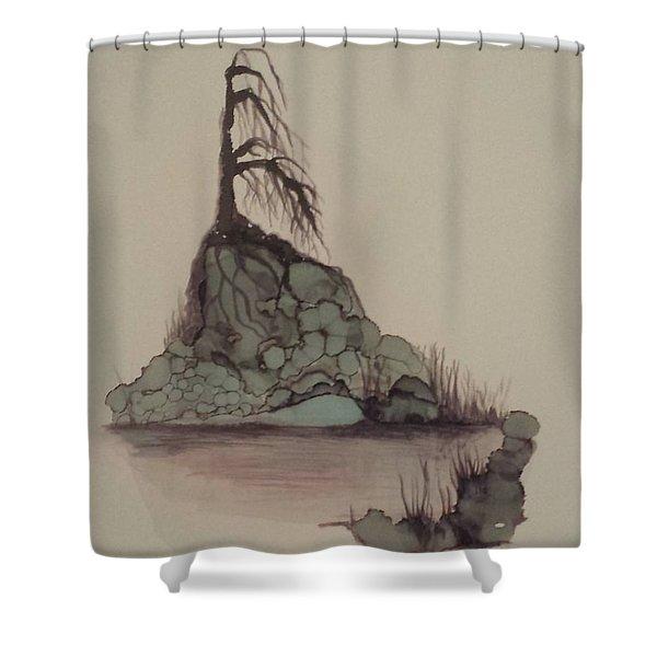 Lone Tree Shower Curtain