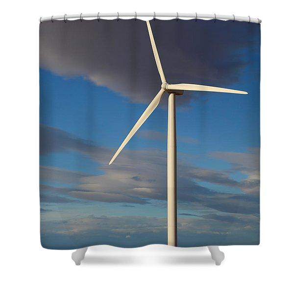 Lone Turbine Shower Curtain