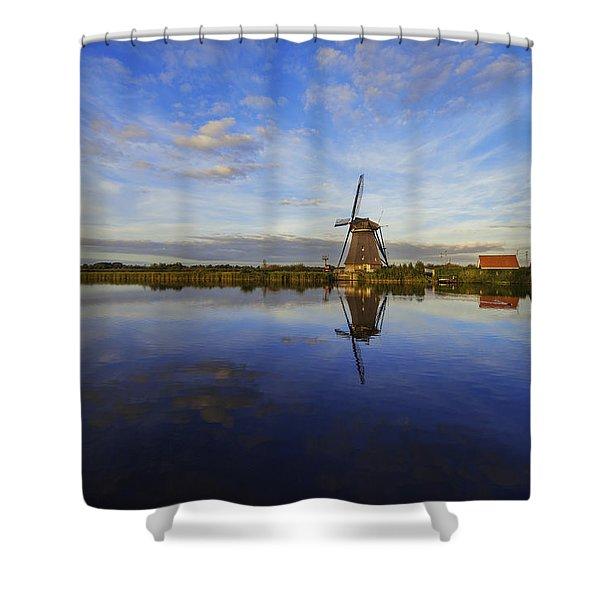 Lone Windmill Shower Curtain