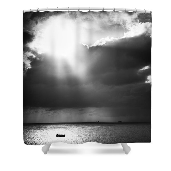 Lonely At Sea Shower Curtain