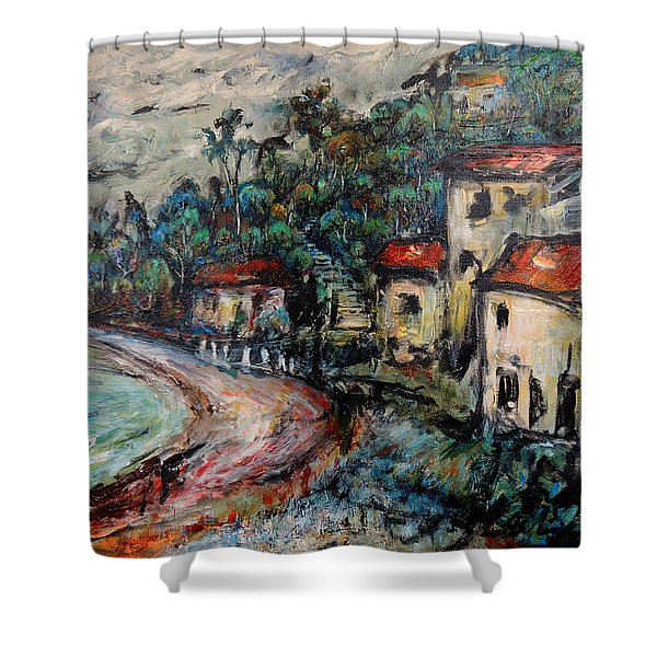 Lonely Bay Shower Curtain