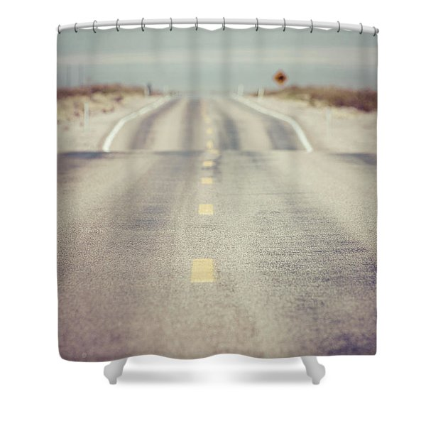 Lonely Desert Highway Road Shower Curtain