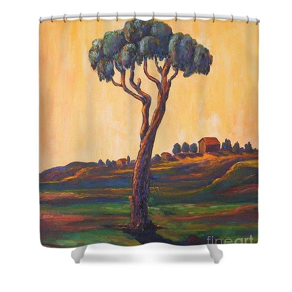 Lonely Eucalyptus Shower Curtain by Ushangi Kumelashvili