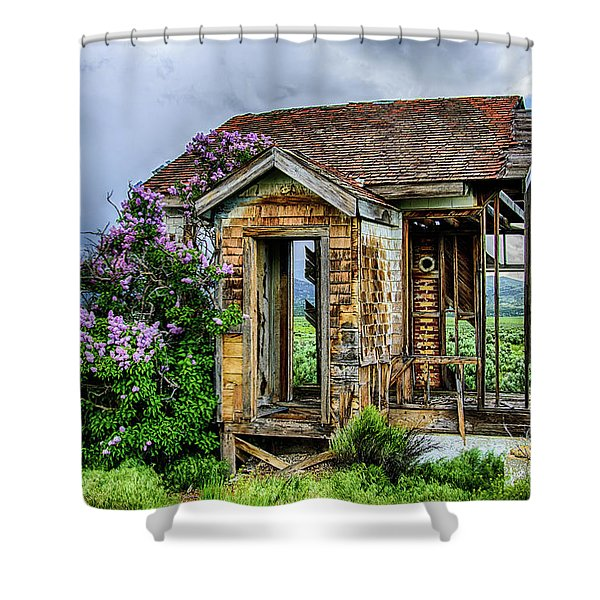 Lonely Lilacs Shower Curtain