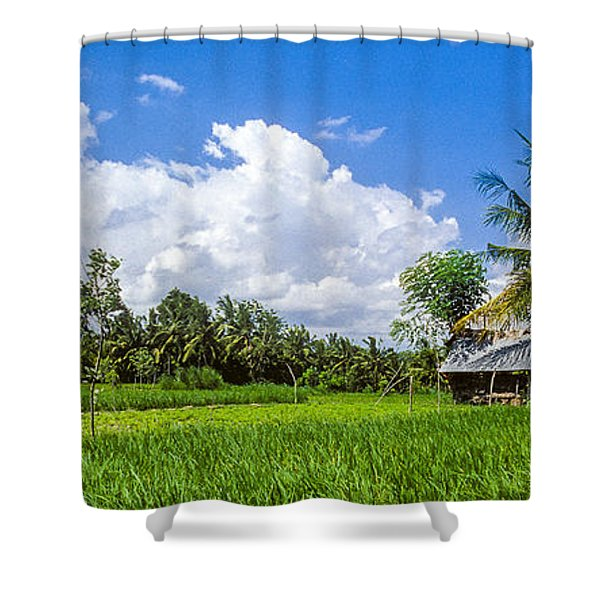 Lonely Rice Hut Shower Curtain
