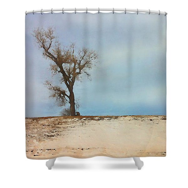 Lonely Sentinel  Shower Curtain