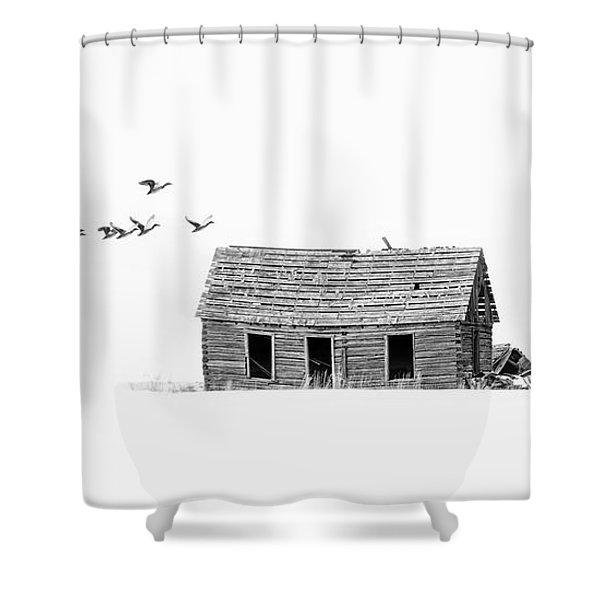 Lonesome But Peaceful Shower Curtain