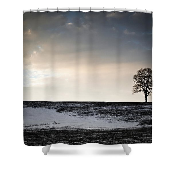 Lonesome Tree On A Hill IIi Shower Curtain