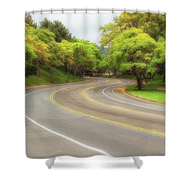 Long And Winding Road Shower Curtain