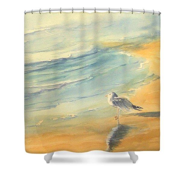 Long Beach Bird Shower Curtain