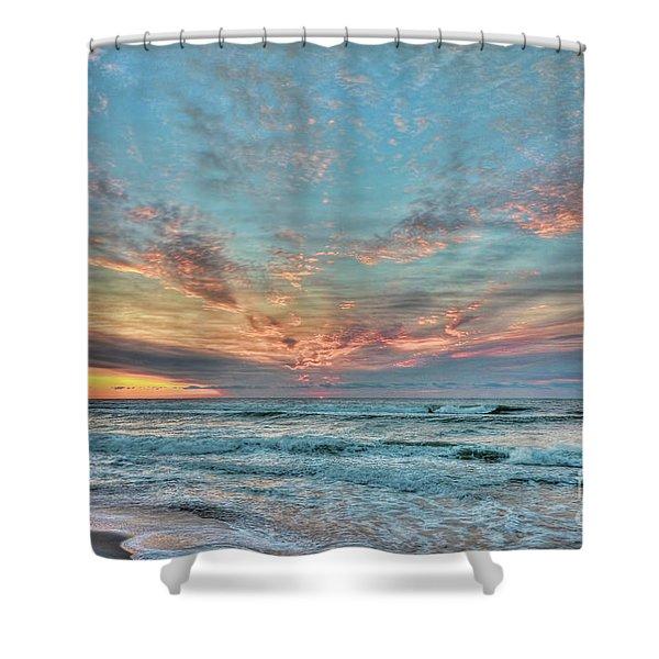 Long Beach Island Sunrise Shower Curtain