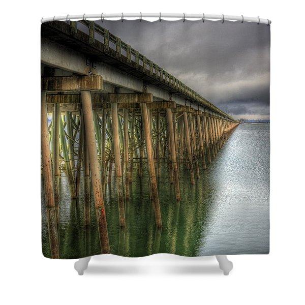 Long Bridge  Shower Curtain