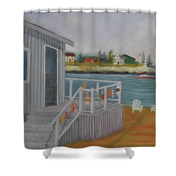 Long Cove View Shower Curtain