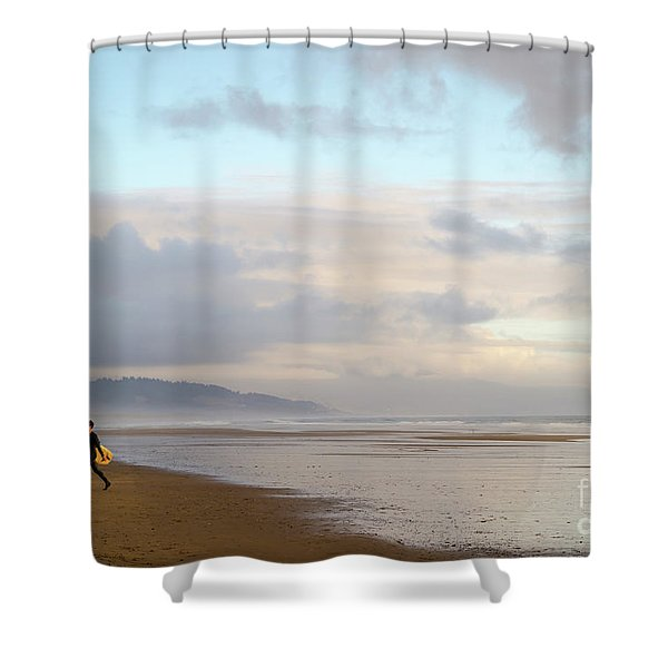 Long Day Surfing Shower Curtain
