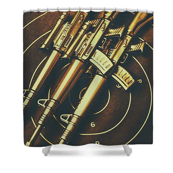 Long Range Tactical Rifles Shower Curtain