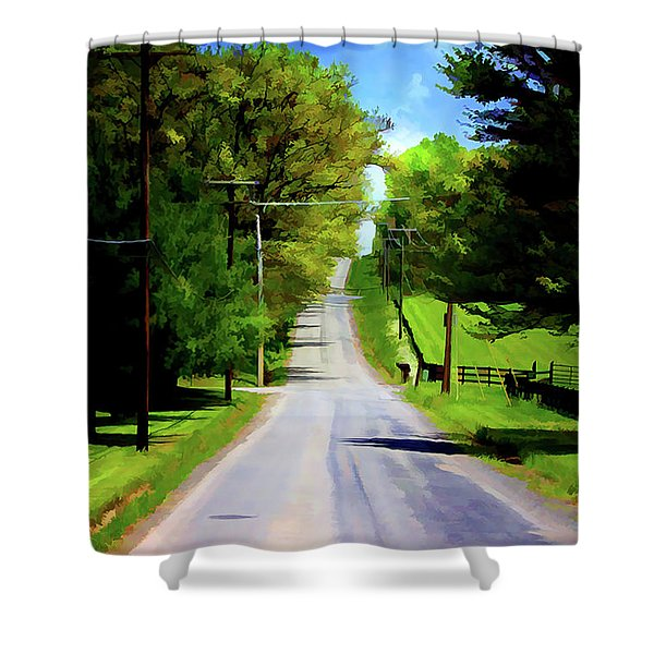Long Road Ahead Shower Curtain