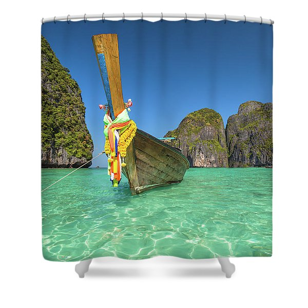 Long Tail Bot Shower Curtain