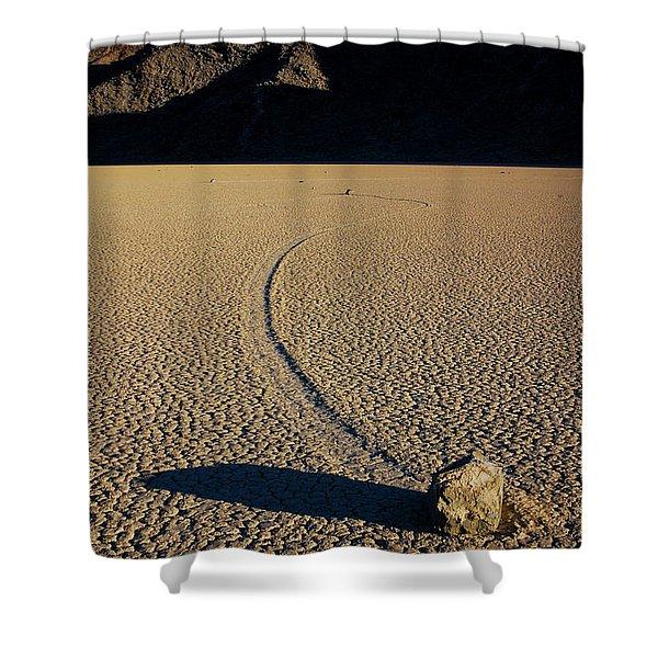 Long Tracks Shower Curtain