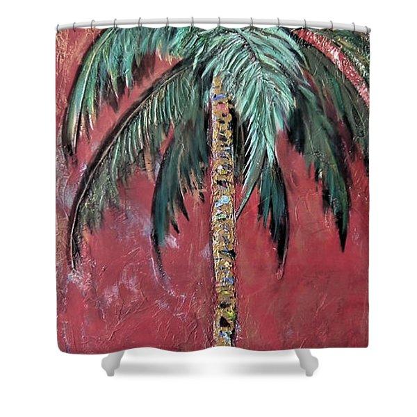 Longboat Key Palm Shower Curtain