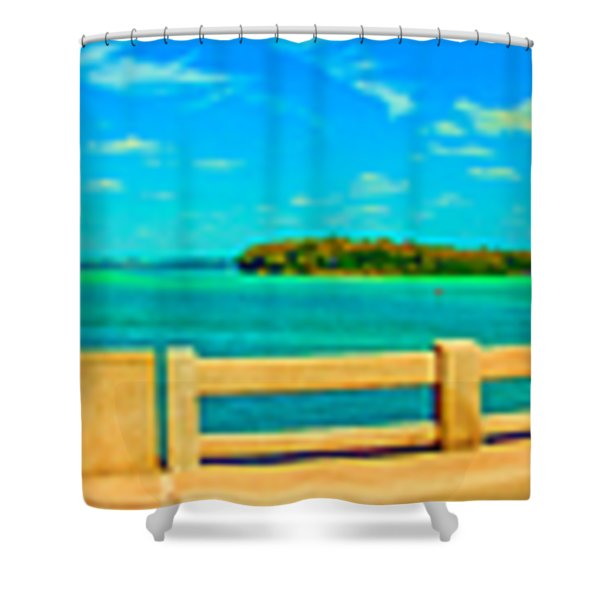 Longboat Pass Drawbridge 360 Degrees Shower Curtain