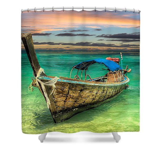 Longboat Sunset Shower Curtain
