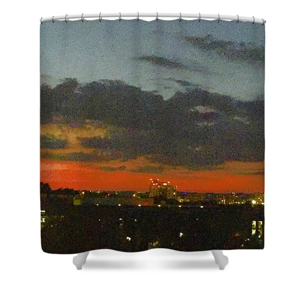 Longhorn Dusk Shower Curtain