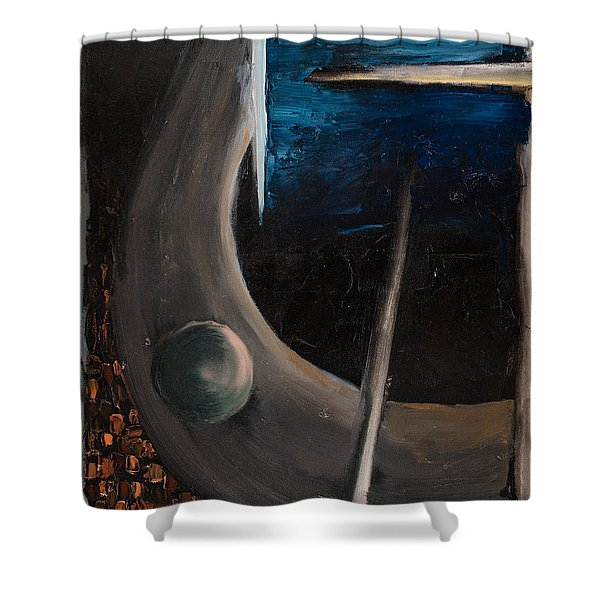 Shower Curtain featuring the painting Longing by Break The Silhouette