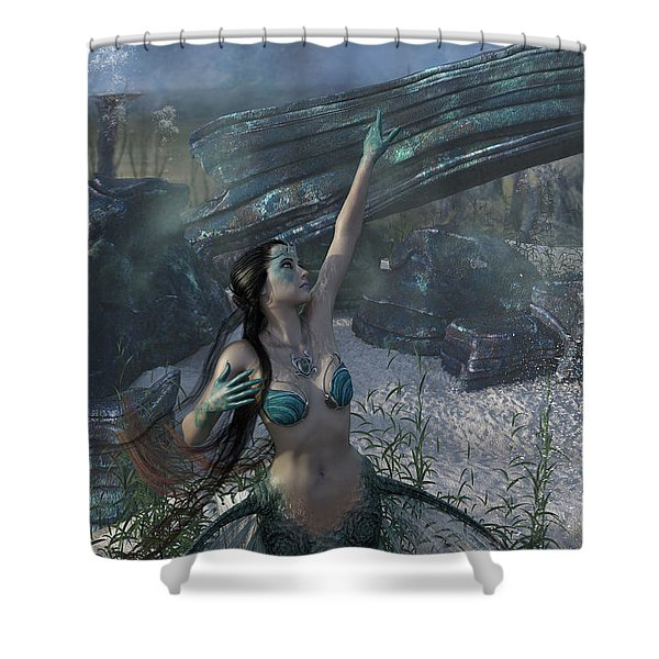 Longing For Land Shower Curtain