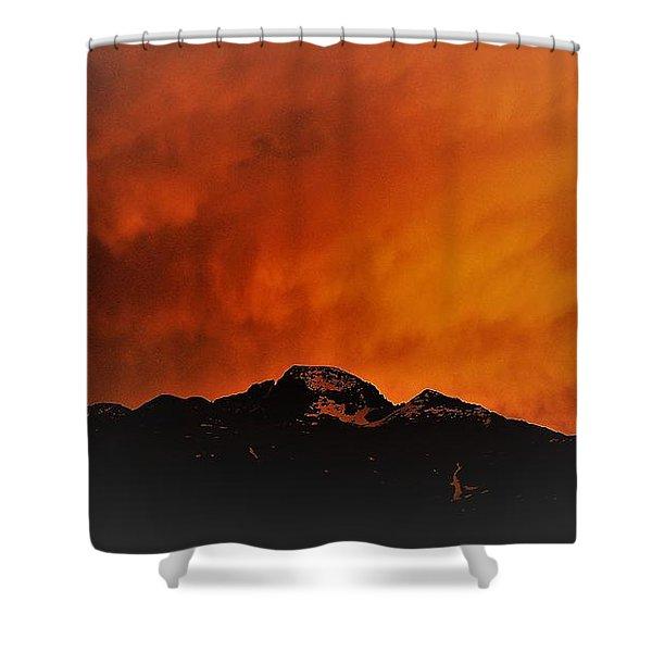 Longs Peak Sunset Shower Curtain