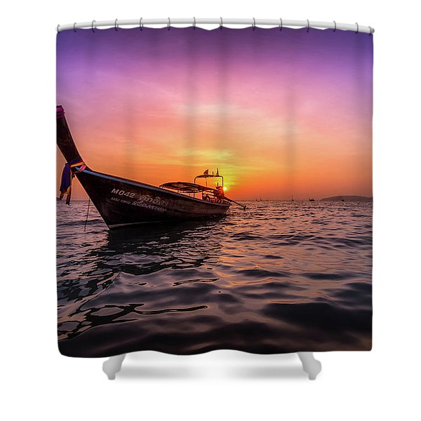 Longtail Sunset Shower Curtain